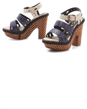 Rochas Strapped Platform Sandals