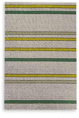 Chilewich Electric Stripe Green Indoor/Outdoor Mat