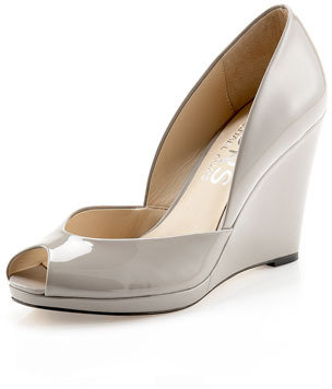 KORS Vail Patent Leather d'Orsay Wedge