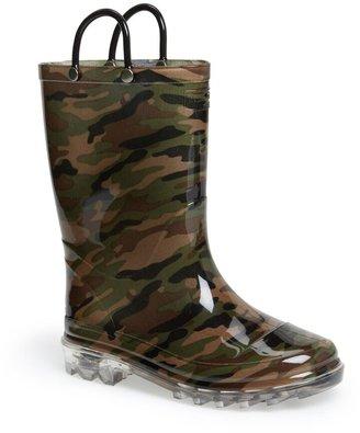 Western Chief Camo Light-Up Waterproof Rain Boot