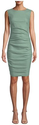 Nicole Miller Lauren Stretch Linen Dress (Sage) Women's Dress