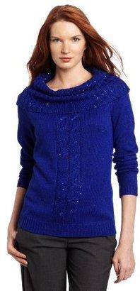 Sag Harbor Women's Cowl Neck Sweater