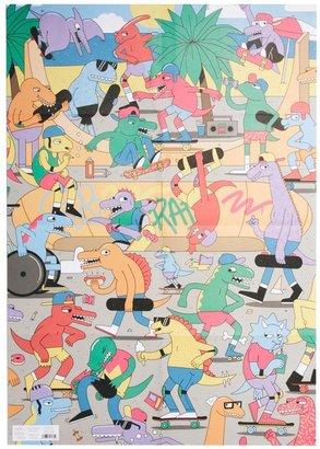 Ohh Deer Dino Skate Park Giftwrap