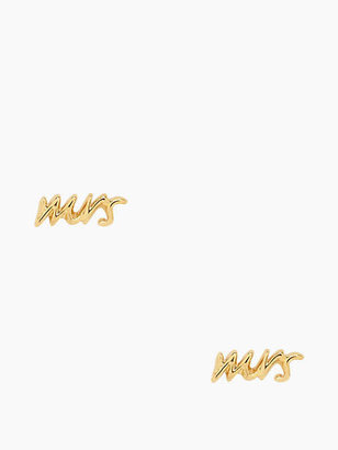 """Kate Spade Say yes """"mrs"""" studs"""