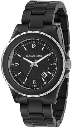 Michael Kors Black Acrylic Stainless Steel Bracelet Watch