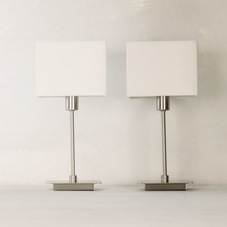 House by John Lewis Ruby Table Lamps, Nickel, Set of 2