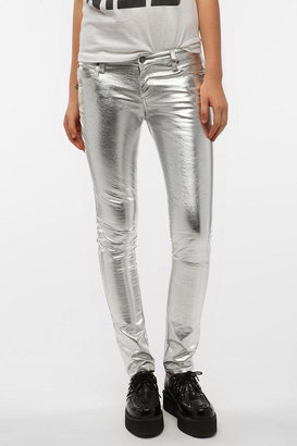 Tripp NYC Silver Vinyl Pant
