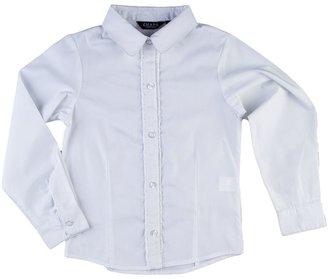 Chaps ruffled woven school uniform shirt - girls 4-6x
