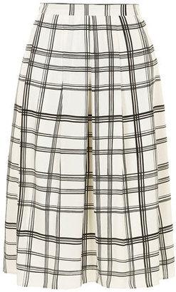 Dorothy Perkins Black/white check midi skirt