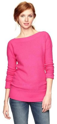 Gap Moss stitch boatneck sweater