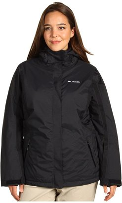 Columbia Plus Size Veloca Vixen II Jacket (Black Dash Dobby/Black/Ice Grey) - Apparel