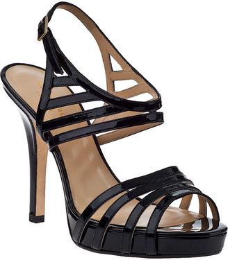 Kate Spade Raven Evening Sandal Black Patent