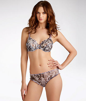 Lunaire Whimsy by Honolulu Camouflage Plunge Demi Bra
