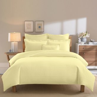 Bed Bath & Beyond Real Simple® Linear Yellow Duvet Cover