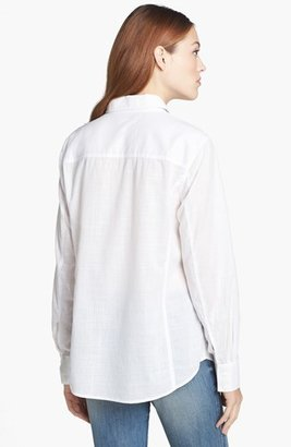 Caslon Cotton Blend Blouse (Regular & Petite)