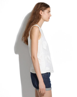 Madewell Silk-Front Embroidery Tank