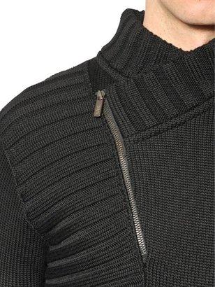 Karl Lagerfeld Double Cross Wool Sweater