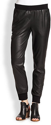 BCBGMAXAZRIA Relaxed Faux Leather Pants