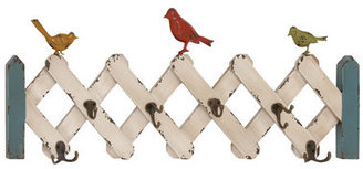 Woodland Imports Accordion Shaped Wooden Wall Hooks