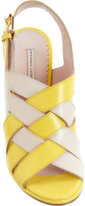 Opening Ceremony Woven Slingback Sandals