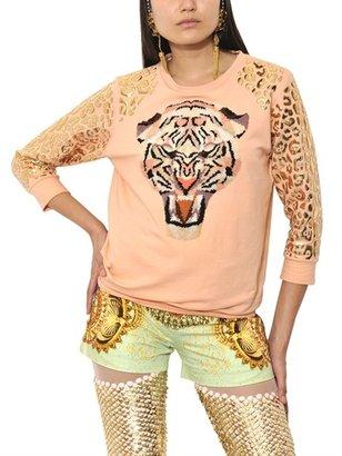 Manish Arora Resin Appliqué Printed Fleece Sweatshirt