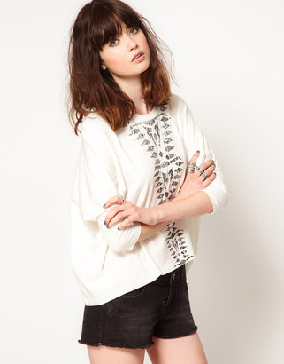 Eleven Paris Oversized Top With Snake Print