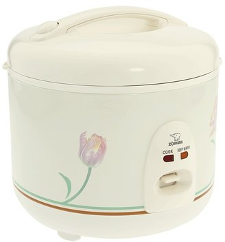 Zojirushi NS-RNC10FC Automatic Rice Cooker Warmer 5.5-Cup (White Ballerina) - Home
