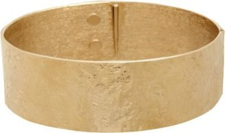 Givenchy Pale Gold Wrinkled-Texture Collar