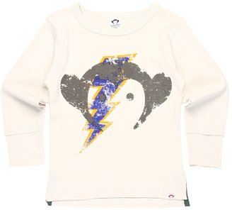 Appaman Kids - Monkey Face L/S Tee (Toddler/Little Kids/Big Kids) (Pebble) - Apparel