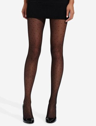 The Limited Control Top Sheer Dot Tights