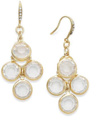 Charter Club Earrings, Gold-Tone Crystal Stone Chandelier Earrings