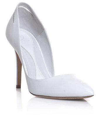 McQ Slash lacquered heel shoes