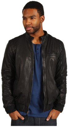Members Only Smooth Operator Leather Jacket (Black) - Apparel