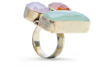 MANGO TOUCH - Oversize stones ring
