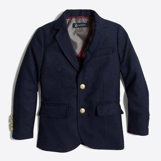 J.Crew Factory Boys' gold-button blazer