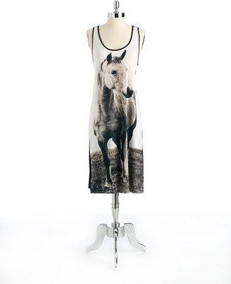 Kensie Horse Print Tank Dress