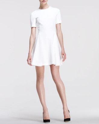 Stella McCartney Short-Sleeve Fit-and-Flare Dress