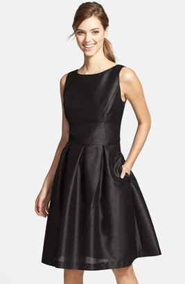 Women's Alfred Sung Dupioni Fit & Flare Dress $164 thestylecure.com