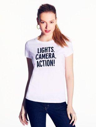 Kate Spade Lights camera action tee