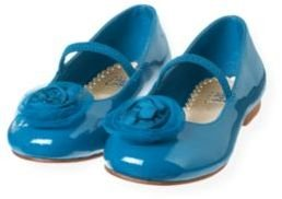 Janie and Jack Tulle Rosette Silk Shoe