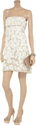 Valentino Appliquéd silk-organza dress