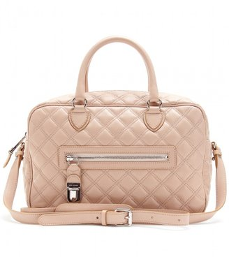 Marc Jacobs MANHATTAN QUILTED LEATHER BOWLING BAG