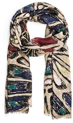 MANGO TOUCH - Multicolor print foulard