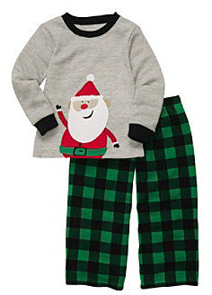 Carter's Boys' 2T-4T Grey 2-pc. Long Sleeve Santa Pajama Set