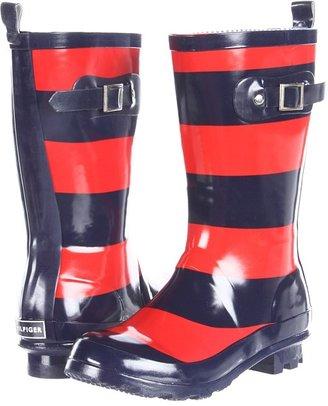 Tommy Hilfiger Rain Boot Rugby (Toddler/Little Kid/Big Kid) (Red/Blue) - Footwear