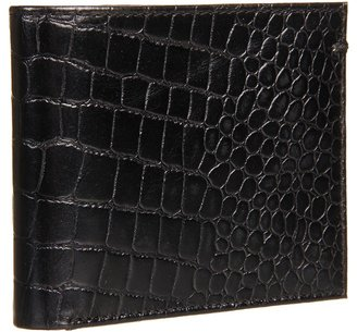 Ben Sherman Mock Croc Billfold Wallet (Black/Red) - Bags and Luggage