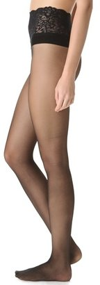 Commando Sheer Tights with Lace Waistband