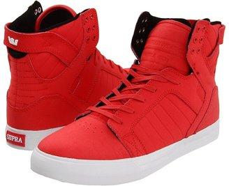 Supra Skytop (Chili Red Wrinkled Satin TUF) - Footwear