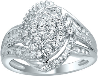 FINE JEWELRY 1 CT. T.W. Diamond 10K White Gold Cluster Ring $1,500 thestylecure.com