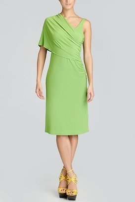 Josie Natori Jersey Shoulder Drape Dress Style U13212